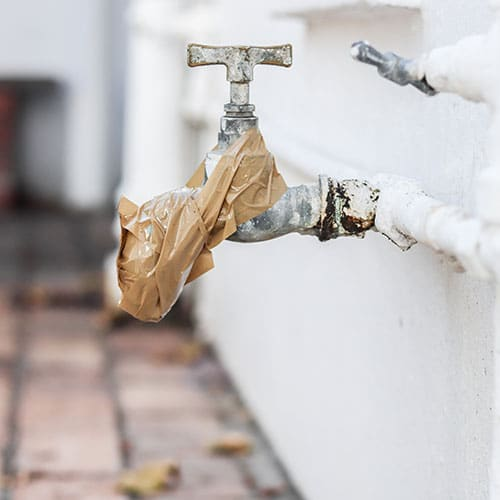 Leaky outdoor tap