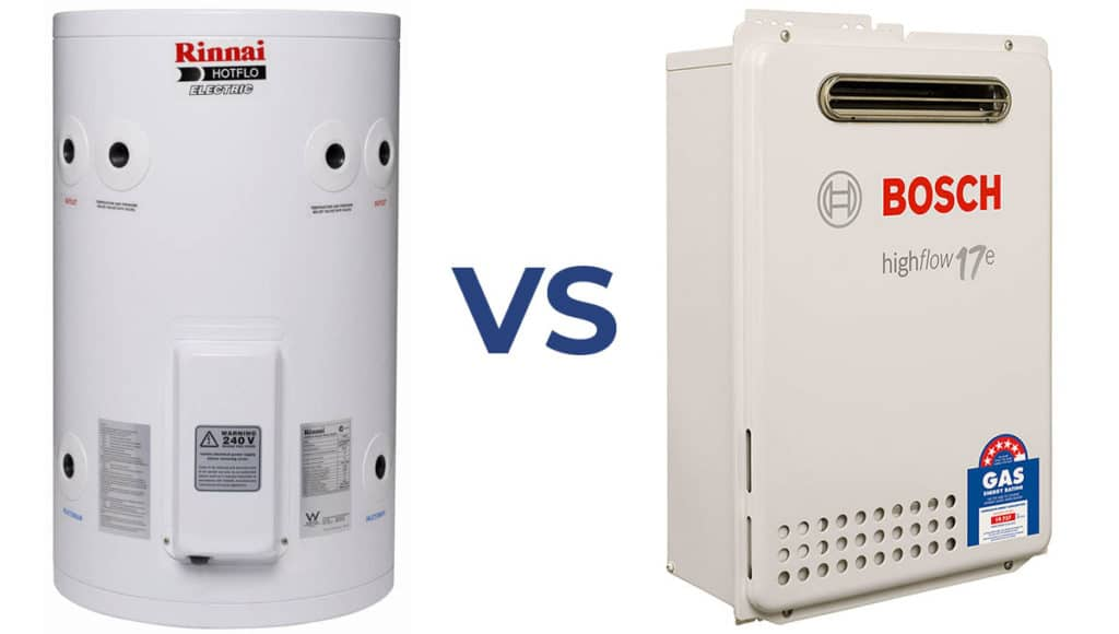 Electric vs gas hot water systems