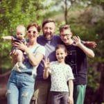 hipster family portrait