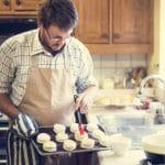 Man Apron Cooking Baking Bakery Concept