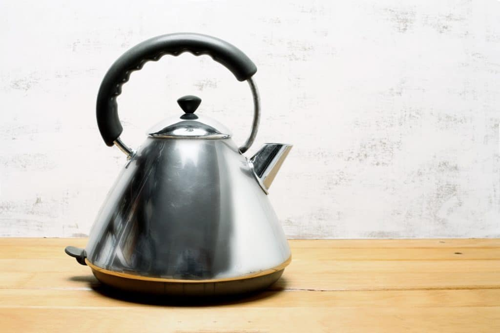 Boiling water in the kettle and pouring it down the blocked drain can help stop bad smells