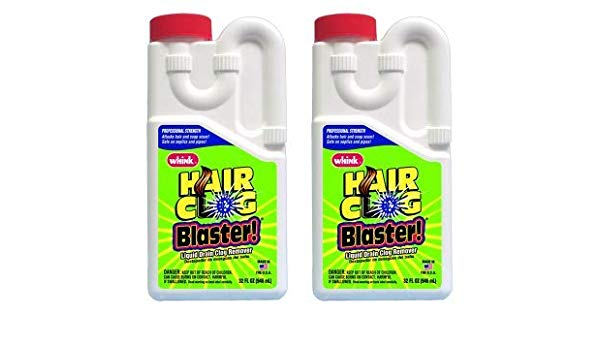 Hair clog blaster for drain clearing