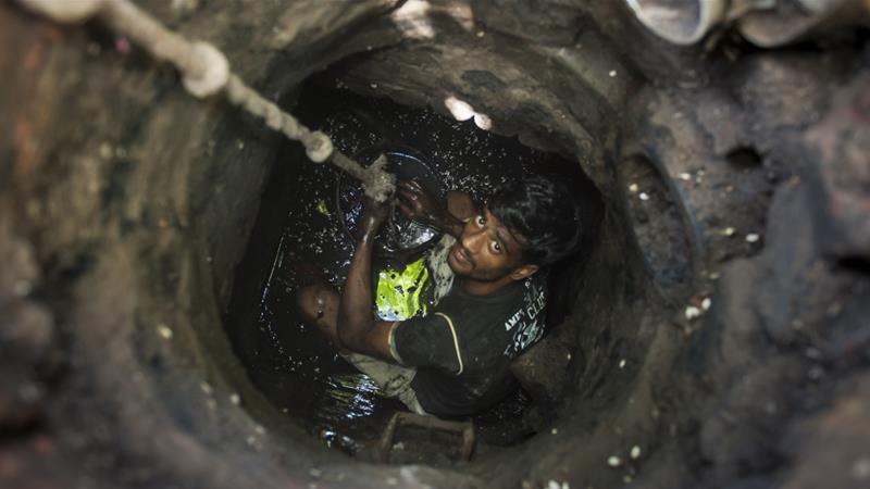 India has some of the worlds dirtiest drains which are cleaned by hand